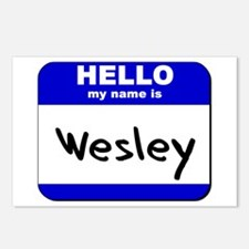 hello my name is wesley  Postcards (Package of 8)