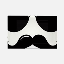 Mustache-087-A Rectangle Magnet