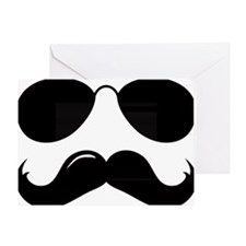 Mustache-087-A Greeting Card