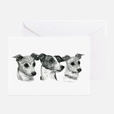 Cute Italian greyhound Greeting Cards (Pk of 10)