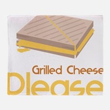 Grilled Cheese Please Throw Blanket