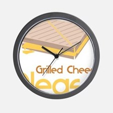 Grilled Cheese Please Wall Clock