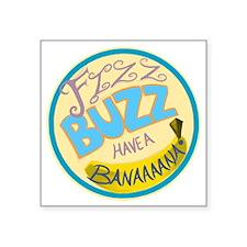 """Cabin Pressure: FIZZ BUZZ H Square Sticker 3"""" x 3"""""""