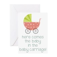 Baby in the Baby Carriage Greeting Card