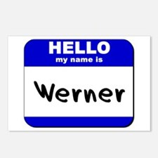 hello my name is werner  Postcards (Package of 8)