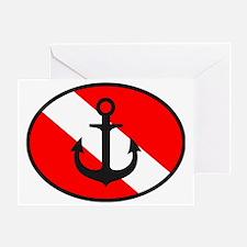 Dive Flag Logo Greeting Card