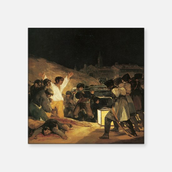 "Francisco de Goya The Third Square Sticker 3"" x 3"""