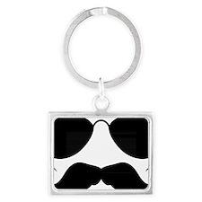 Mustache-078-A Landscape Keychain