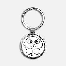 Soft Kitty Round Keychain