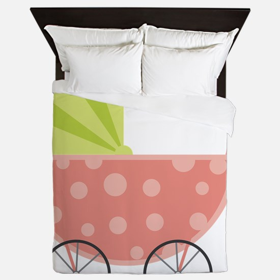 Baby Carriage Queen Duvet