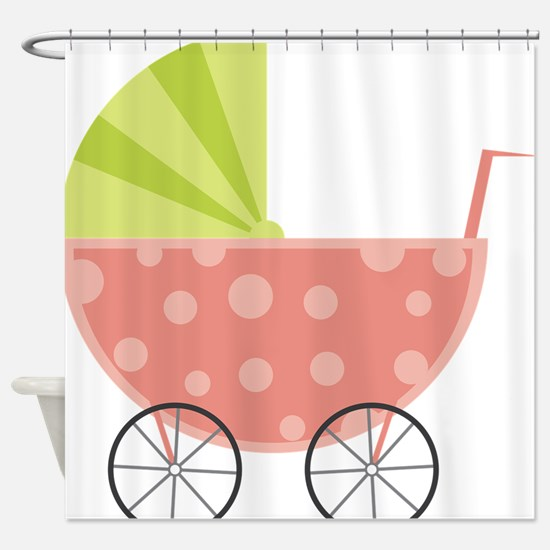Baby Carriage Shower Curtain