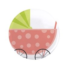 """Baby Carriage 3.5"""" Button"""