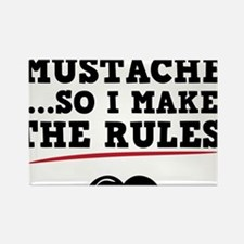 Mustache-088-A Rectangle Magnet