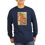 Flat Michigan Long Sleeve Dark T-Shirt