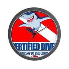 Certified Diver Wall Clock