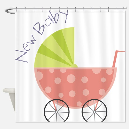 New Baby Shower Curtain