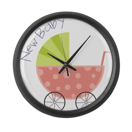 New Baby Large Wall Clock