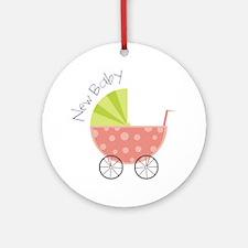 New Baby Round Ornament