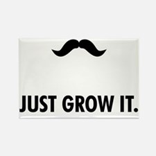 Mustache-001-A Rectangle Magnet