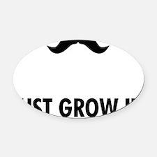 Mustache-001-A Oval Car Magnet