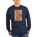 Flat Indiana Long Sleeve Dark T-Shirt