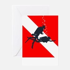 Rescue Diver (white) Greeting Card