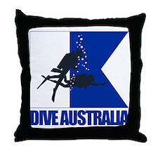 Dive Australia (blue) Throw Pillow