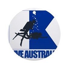 Dive Australia (blue) Round Ornament