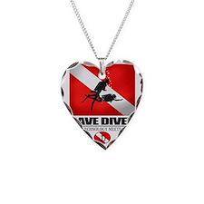 Cave Diver 2 (back) blk Necklace