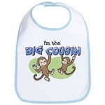 I'm the Big Cousin (Monkey) Bib