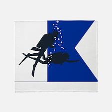 Dive Australia (white) Throw Blanket