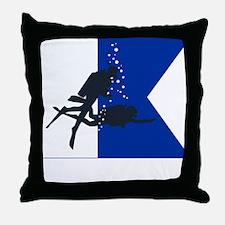 Dive Australia (white) Throw Pillow