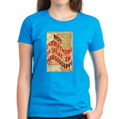 Flat Mississippi Women's Dark T-Shirt