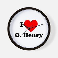 I Love O. Henry Wall Clock