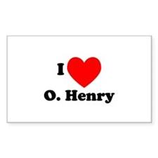 I Love O. Henry Rectangle Decal