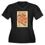Flat Alabama Women's Plus Size V-Neck Dark T-Shirt