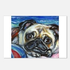 Pug Smile Postcards (Package of 8)