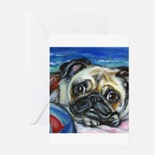 Pug Smile Greeting Cards