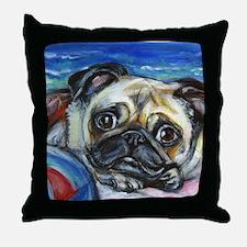 Pug Smile Throw Pillow