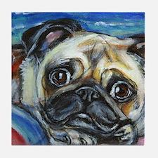 Pug Smile Tile Coaster
