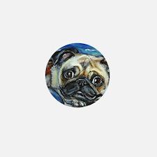 Pug Smile Mini Button