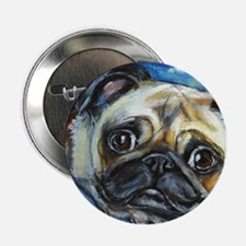 "Pug Smile 2.25"" Button"