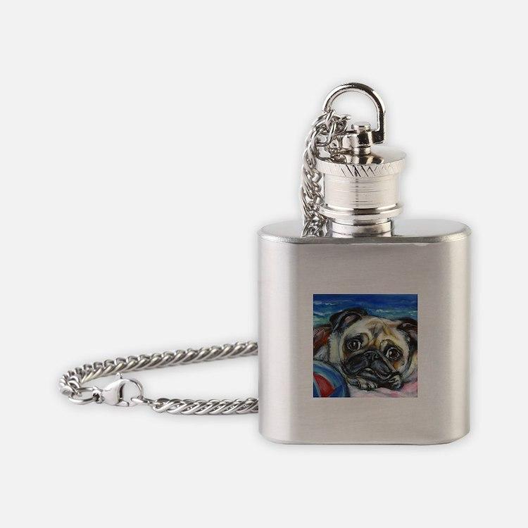 Pug Smile Flask Necklace