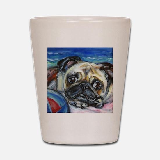 Pug Smile Shot Glass