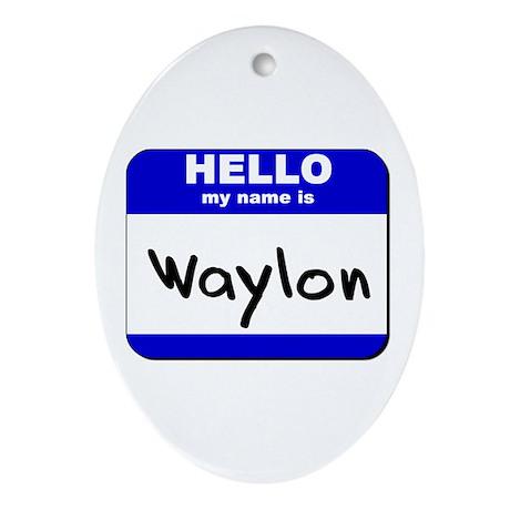 hello my name is waylon Oval Ornament