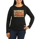 Flat Washington Women's Long Sleeve Dark T-Shirt