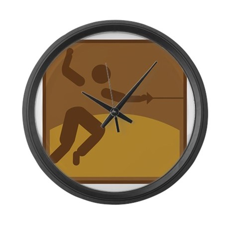 Fechten Large Wall Clock
