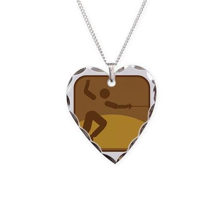 Fechten Necklace Heart Charm