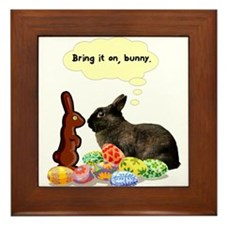 Easter Bunny Attitude Framed Tile