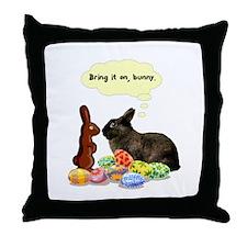Easter Bunny Attitude Throw Pillow